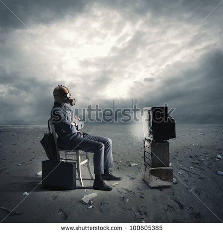 stock-photo-businessman-with-gas-mask-watching-tv-100605385